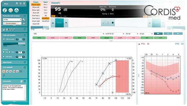 Аудиометрия на аппаратах Interacoustics. Купить аудиометр Интеракустикс  в Cordismed по выгодной цене