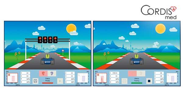 Процедура тимпанометрии на Maico touchTymp RaceCar