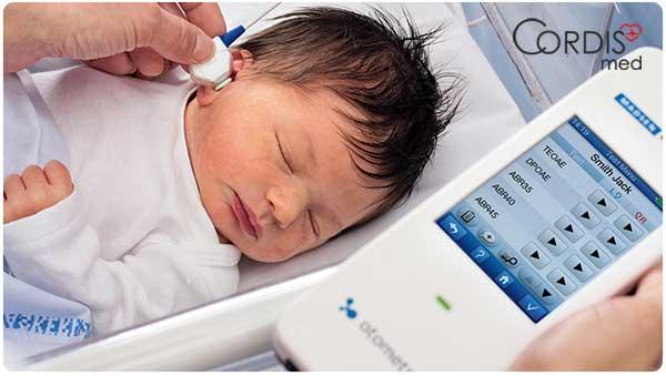 Портативная система скрининга слуха у новорожденных Otometrics MADSEN AccuScreen с регистрацией отоакустической эмиссии и слуховых вызванных потенциалов  по выгодой цене