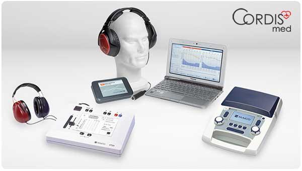 Комплектация аудиометра / тимпанометра.  Купить аудиометр в Cordismed