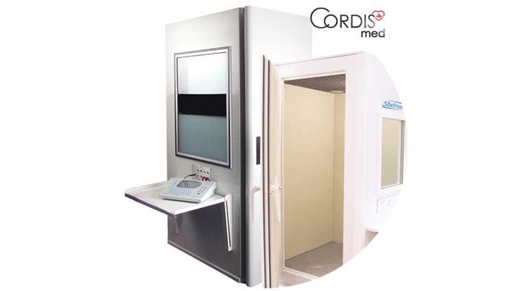 Купить шумозащитные аудиометрические кабины в Cordismed по выгодной цене